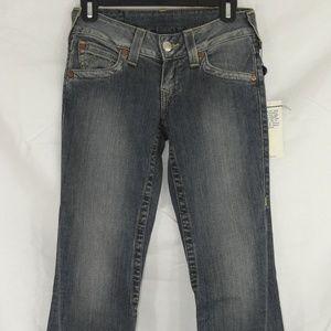 True Religion Flare Jeans in Trailblazer Wash 25